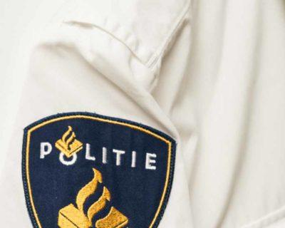 CHEMISE – POLITIEMANCHES COURTE BLANCHE OFFICIER POLICE PAYS-BAS – Size M